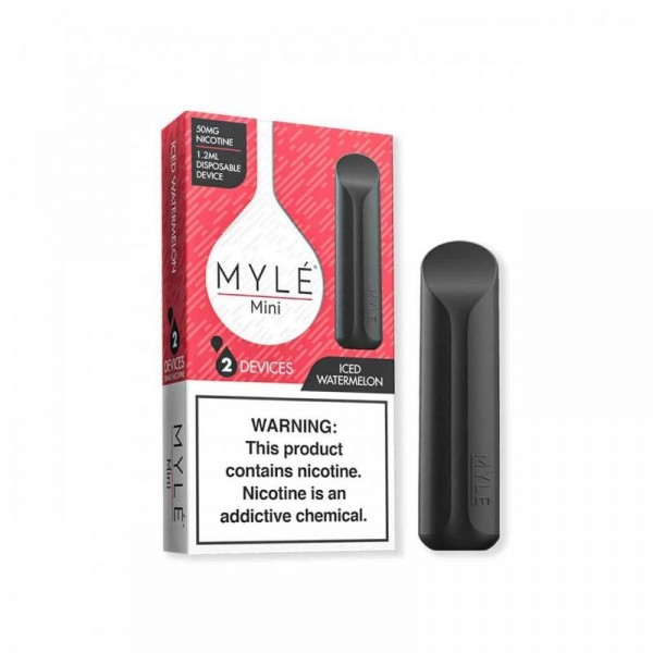 MYLE Mini Disposable Device 5% (2 pack) - Iced Watermelon
