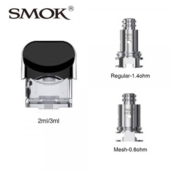 SMOK NORD REPLACEMENT KIT - POD WITH 1.4OHM/0.6OHM COILS